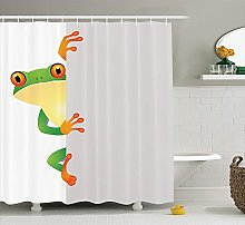 Reptile Decor Shower Curtain Set Funky Frog Prince