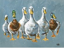 Reservoir Ducks by Louise Brown - Wrapped Canvas