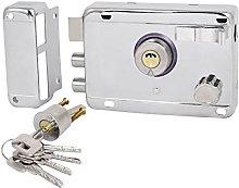 Residential Door Silver Tone Deadbolt Rim Lock
