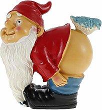 Resin Garden Gnomes,Garden Gnome Statue Naughty