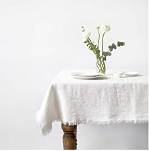 Resort Innsbruck - White Tablecloth with Fringes -