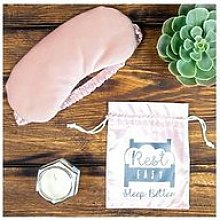 Rest Easy Sleep Better Weighted Eyemask In Pink