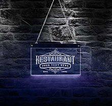 Restaurant Business Name Led Neon Sign Gourmet