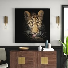 Resting Leopard Graphic Art Print on Canvas East