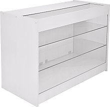 Retail Glass Shelf Product Display Shop Counter