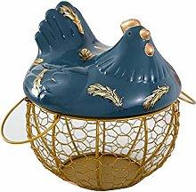 rethyrel Metal Wire Egg Storage Basket with