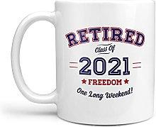 Retired 2021 - Coffee Tea Cup Mug - Gift Presen