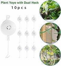 Retractable Plant Yoyo with Dual Hock, Adjustable