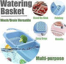 Retractable strainer Drain basket above kitchen
