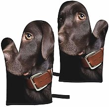 Retriever Brown Dog Oven Mitts,Heat Resistant