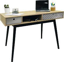 RETRO - 2 Drawer Office Computer Desk / Dressing
