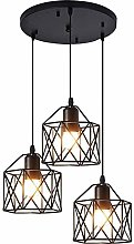 Retro 3*E27 Geometry Pendant Lighting Ceiling Lamp