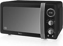 Retro 800W Digital Microwave Swan