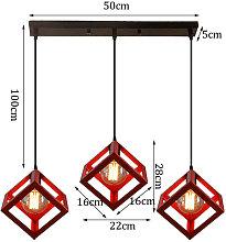 Retro Antique Chandelier Cube Hanging Light