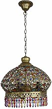 Retro Art Iron Shade Small Chandeliers,LED Light