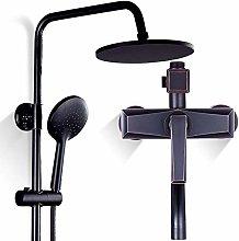 Retro Bathroom Mixer Shower Tap System Black Round