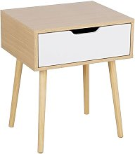 Retro Bedside Table End Table Nightstand with