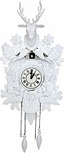 Retro Black Forest Cuckoo Clock, Deer Head Cuckoo