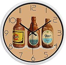 Retro Bottle Kitchen Wall Clock Decorate Home