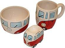 Retro Boxed Ceramic Camper Van Breakfast Set -