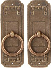 Retro Cabinet Door Pull,2 Sets Chinese Style