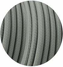 Retro cable Round 3 Core Grey Braided Fabric Cable