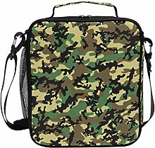 Retro Camouflage Pattern Lunch Bag Insulated Lunch