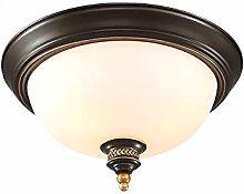 Retro Ceiling Light Brushed Brass Hanging Lamp