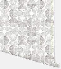 Retro Circle Grey Wallpaper 902402 - Arthouse