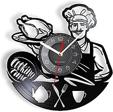 Retro cooking time wall clock western kitchen chef