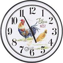 Retro Country Iron Multicoloured Round Wall Clock