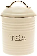 Retro Cream Tea Canister by Unknown