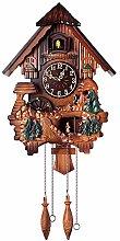 Retro Cuckoo Clock,Handcraft Forest Clock Wood