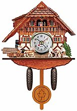 Retro Cuckoo Clock Traditional Handcraft Forest