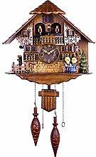 Retro Cuckoo Clock Wooden Clock for Wall Antique