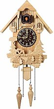 Retro Cuckoo Clock, Wooden Clock for Wall, Antique
