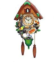 Retro Cuckoo Clock, Wooden Cuckoo Clock for Wall,