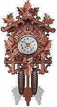 Retro Cuckoo Wall Clock Home Decor, Wooden