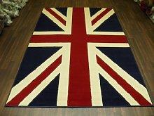 Retro Design Union Jack Red/White and Blue 120cm x