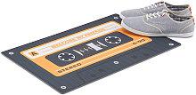 Retro Doormat, Non-Slip Audio Cassette Dirt