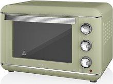 Retro Electric 23 L Mini Oven Swan Colour: Green