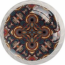Retro Ethnic 4PCS Drawer Knobs,Cabinet