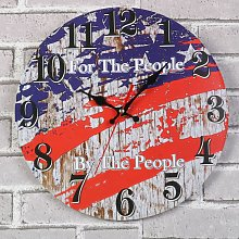 Retro European Style Handcrafted Wood Wall Clock