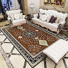 Retro European Style Rectangular Carpet Living