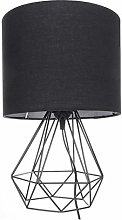 Retro Geometric Decoration Bedside Lamp Shade Drum