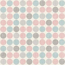 Retro Geometric Soft Colours Wallpaper Circles
