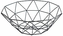 Retro Iron Fruit Basket Metal Wire Container Drain