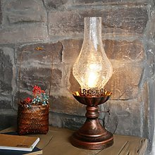 Retro Iron Lamps, Crack Glass Shade, Old-Fashioned