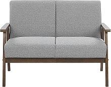 Retro Living Room Sofa Fabric Upholstery Wooden