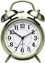 Retro Mechanical Alarm Clock Manual Wind Up Metal